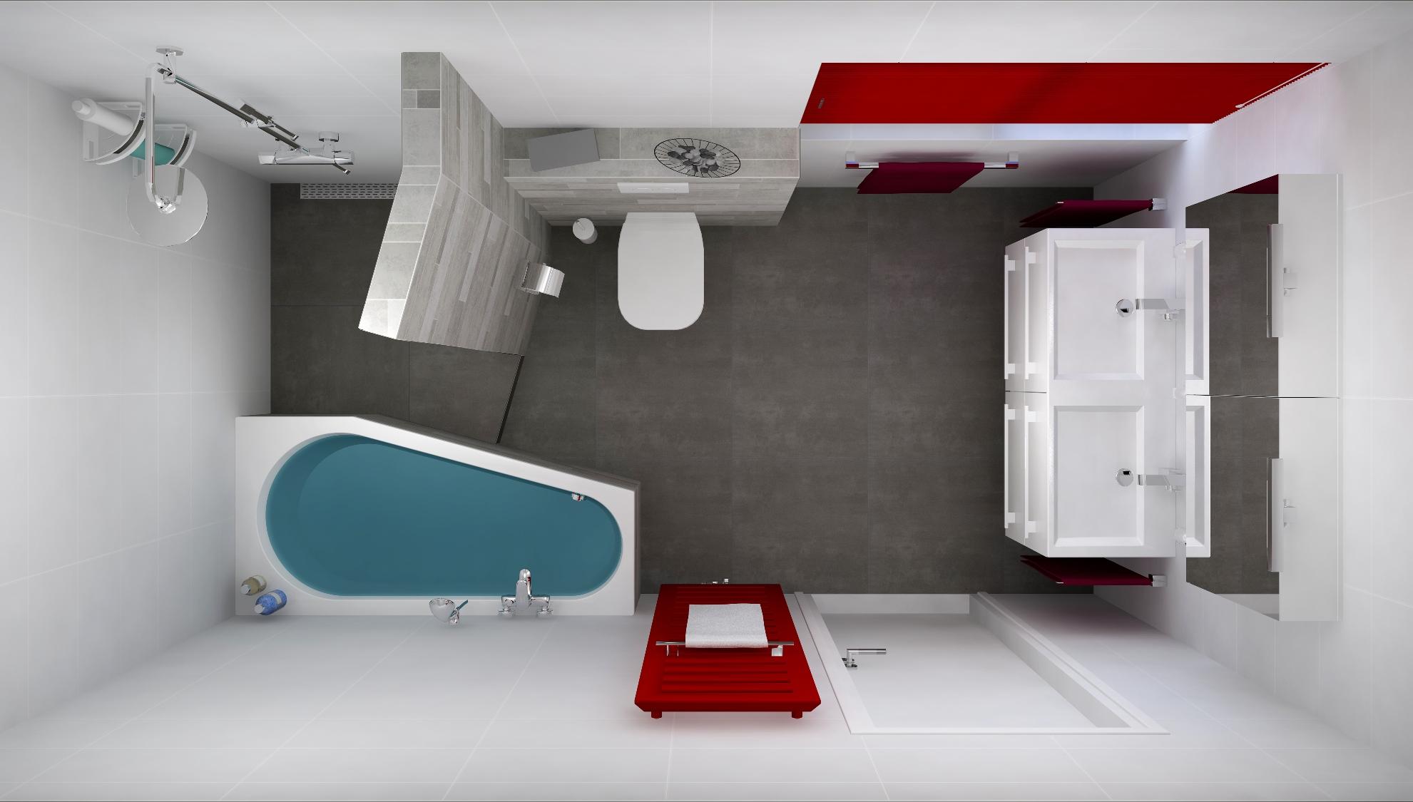 Rolgordijnen op kleur in de badkamer aanbouwuitbouw.nl